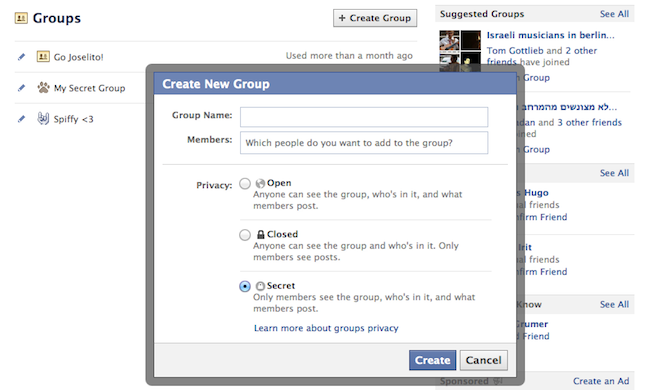 Create a Secret Group