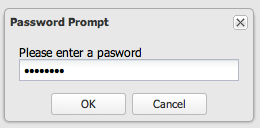 Password input box