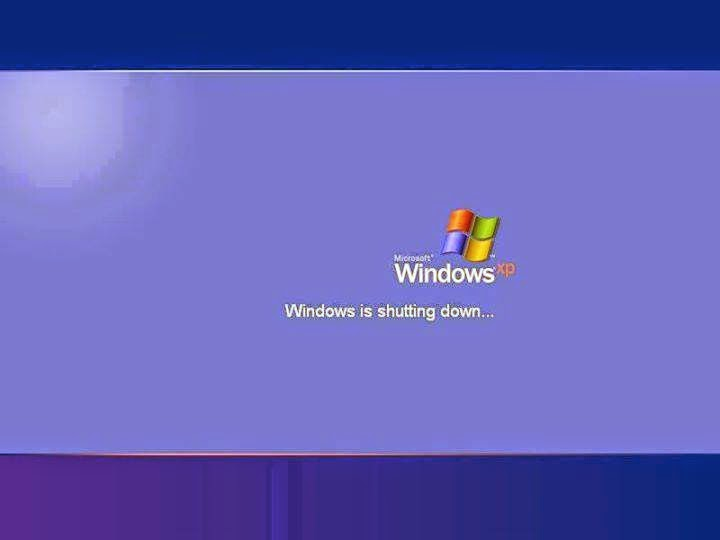 windows xp shutting down