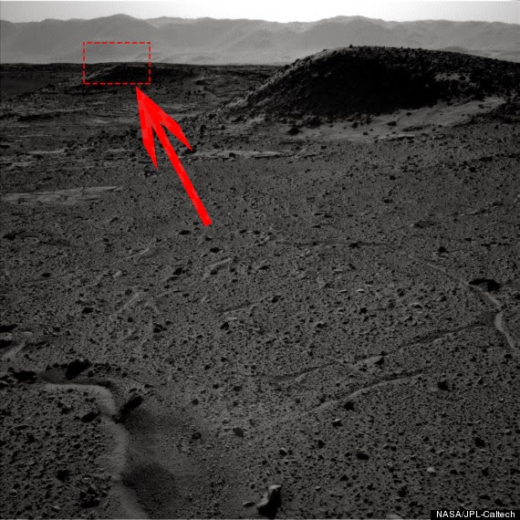 A strange speck of light on Mars found by Curiosity rover