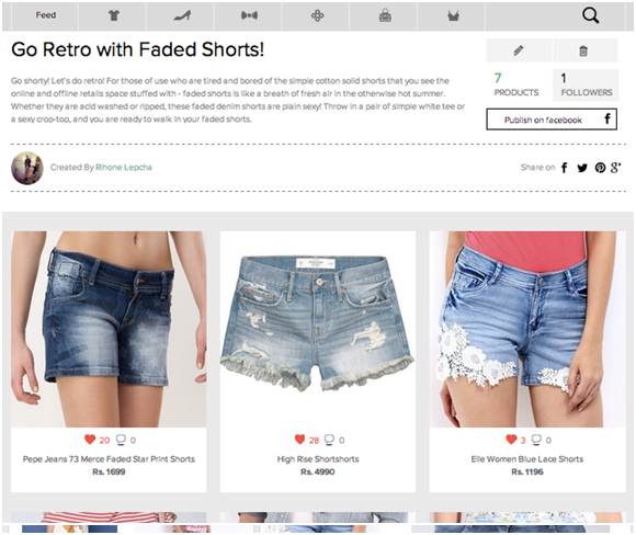 Go Retro with Faded Shorts