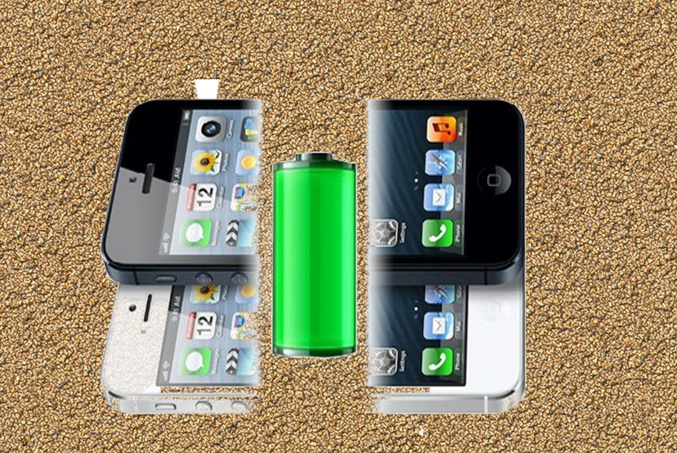 Sand to power your smartphone battery