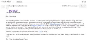 Yahoo to shut down yahoo contributor network