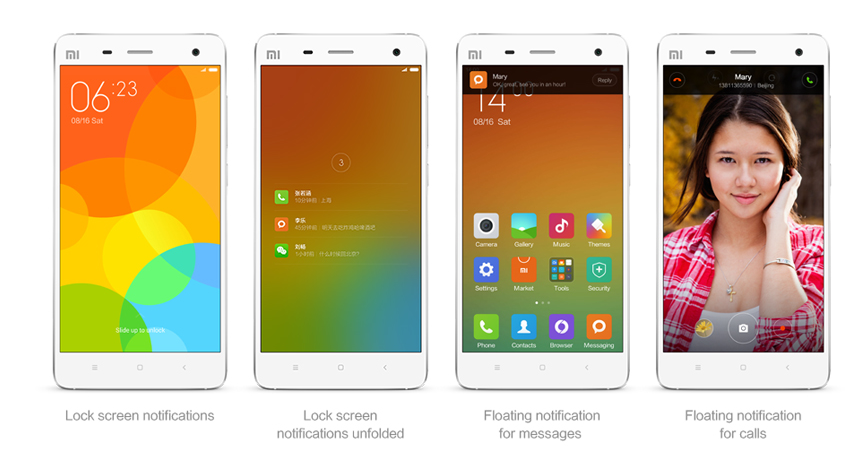 MIUI Notification center